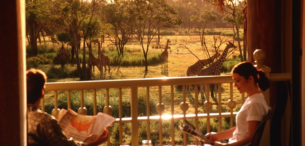 Guestroom balcony at Disney's Animal Kingdom Lodge