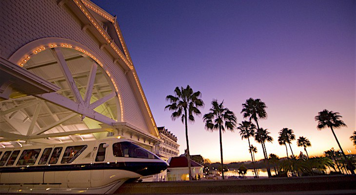 Grand Floridian Resort's monorail