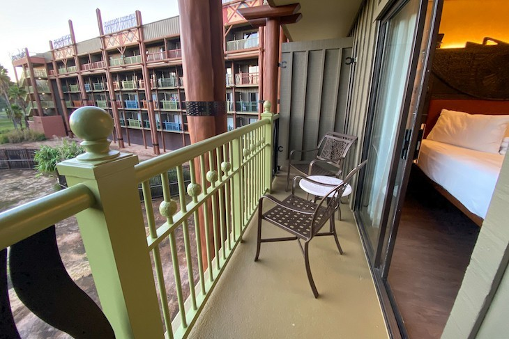 Standard room balcony