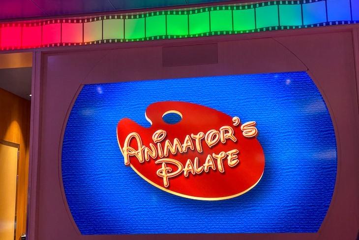 Animator's Palate video screens