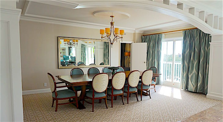 Presidential Newport Suite Dining Room