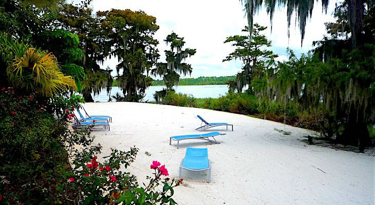Bay Lake Tower beach area