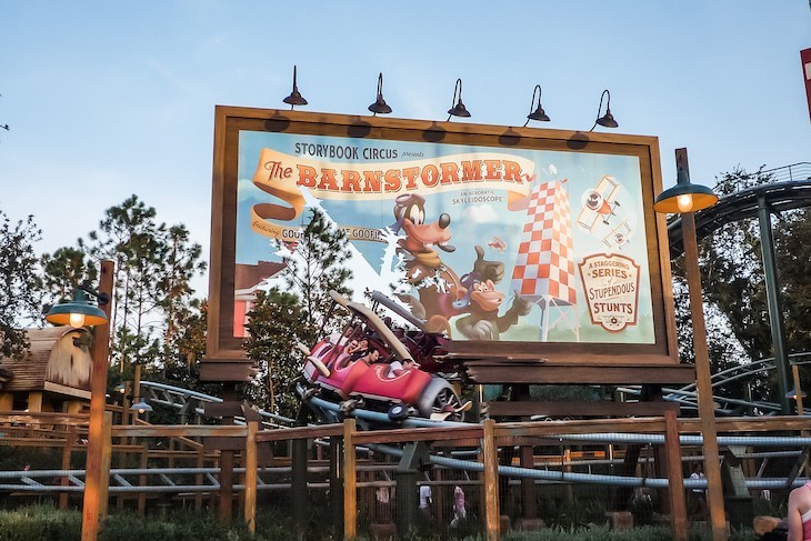 The Barnstormer, the perfect starting coaster for the little ones