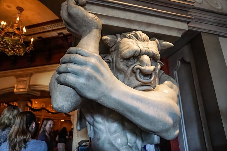Minotaur greets you on arrival at Be Our Guest