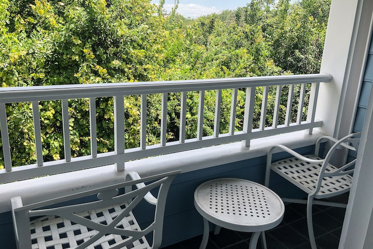 Standard Guest Room balcony facing Epcot woods area
