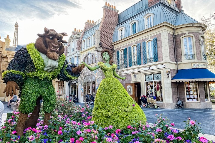 France's Beauty and the Beast topiary is an annual favorite
