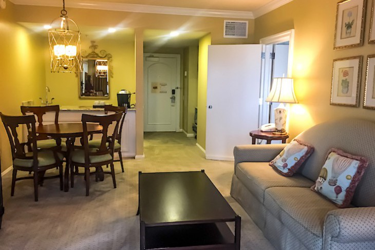 Two-bedroom suite living