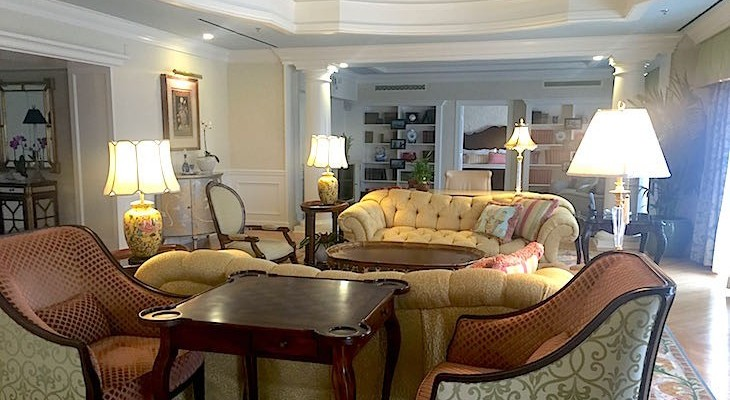 Steeplechase Suite's living area