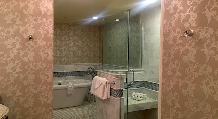 Steeplechase Suite's master bath
