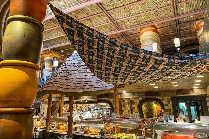 Boma's tasty buffet stations