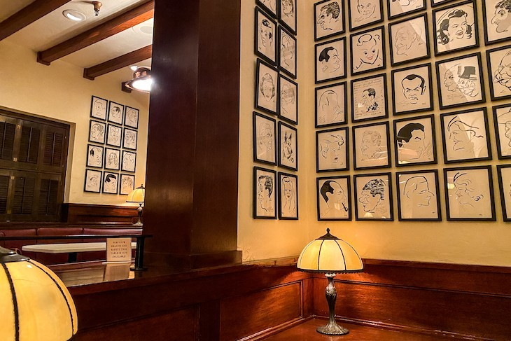 Hollywood Brown Derby caricatures