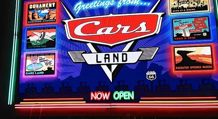 Cars Land neon