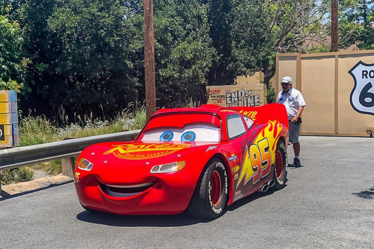 Lighting McQueen on the streets