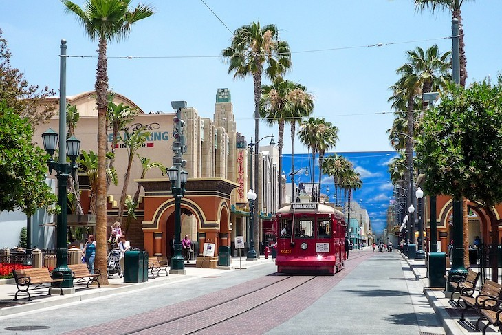Red Car Trolley in Hollywood Land