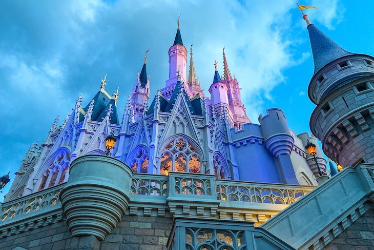 You'll love the sight of the castle as dusk falls