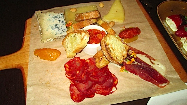 Catal cheese and charcuterie