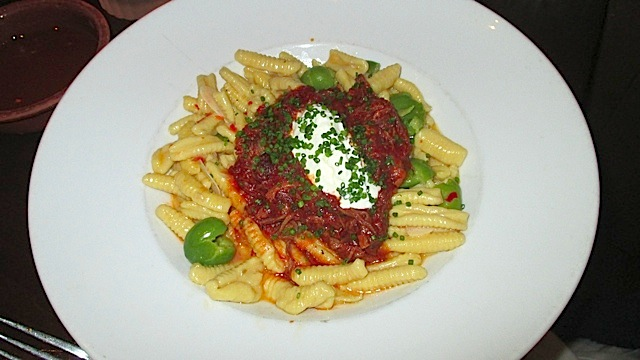 Catal braised lamb cavatelli pasta