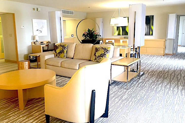 Contemporary Resort's Two- or One-bedroom Suite Living Area