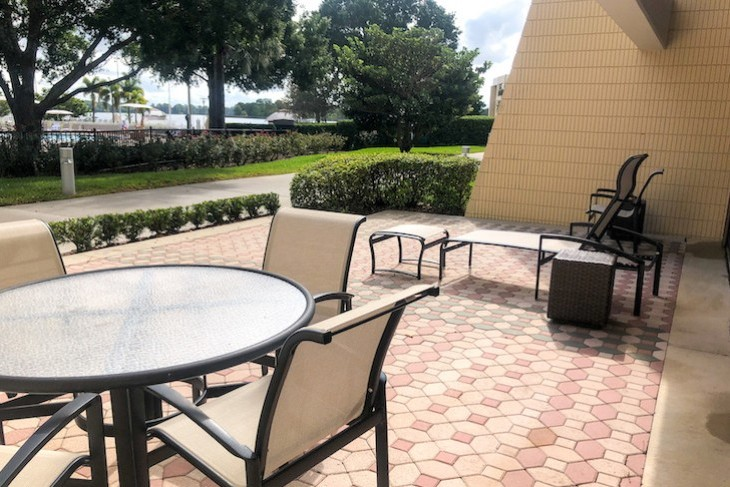 Garden Wing Hospitality Suite patio