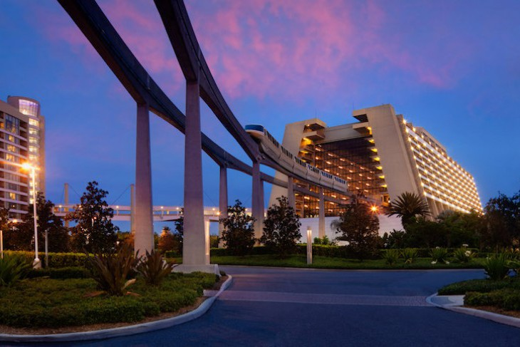 The monorail is one of Disney's Contemporary Resort's best assets