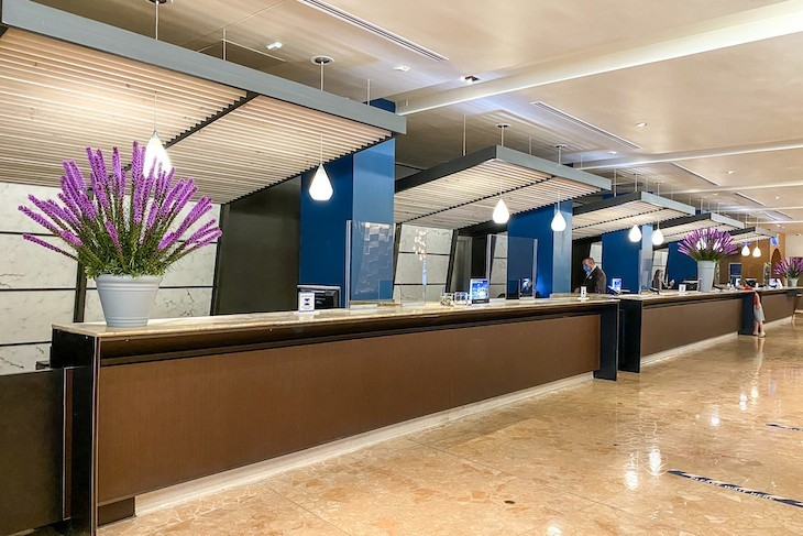 Contemporary Resort front desk