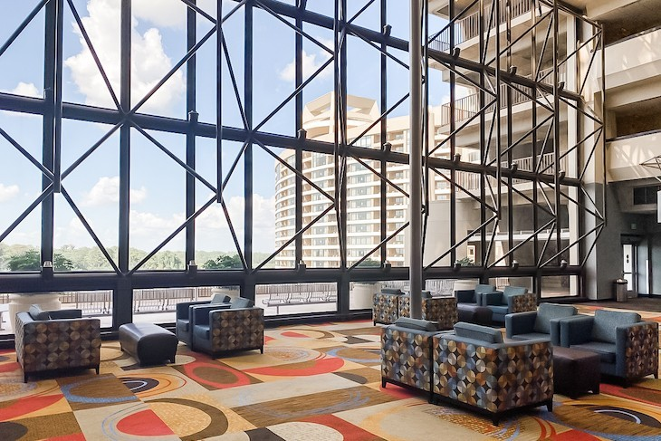 Contemporary Resort's atrium