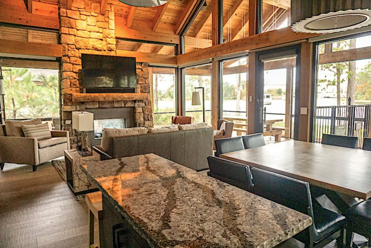 Copper Creek Cabin living area