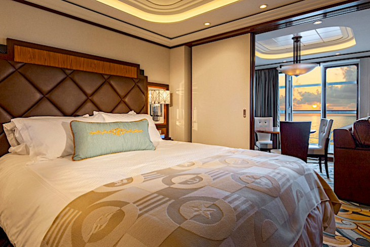 Disney Dream and Fantasy's One-bedroom Suite Bedroom