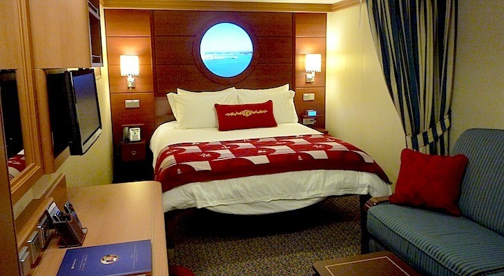Disney Dream and Fantasy's Deluxe Inside Stateroom