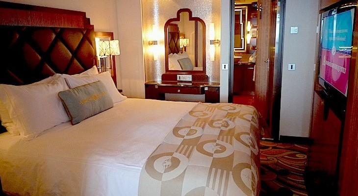 Disney Dream and Fantasy's One-bedroom Suite Bedroom