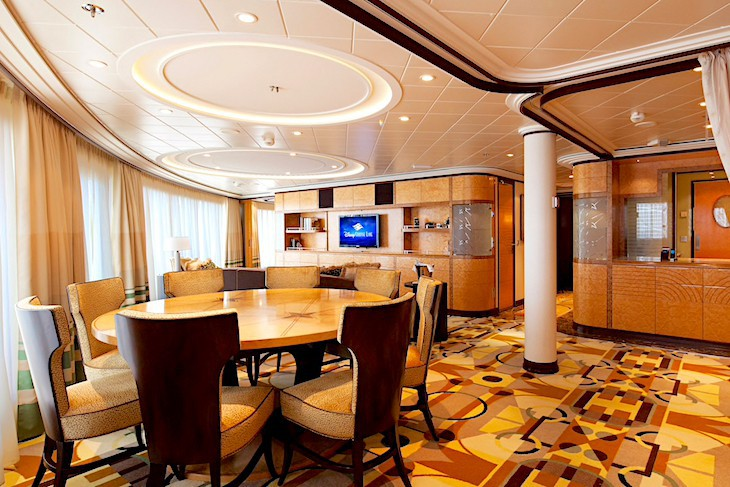 Disney Dream and Fantasy's Royal Suite Dining Area