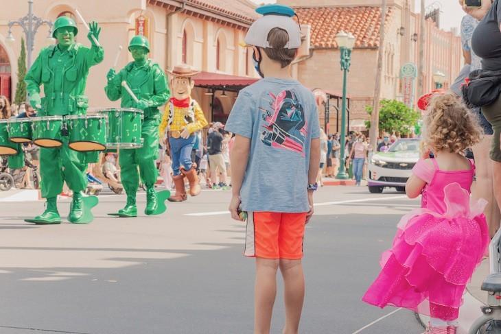 Character Cavalcade down Hollywood Boulevard