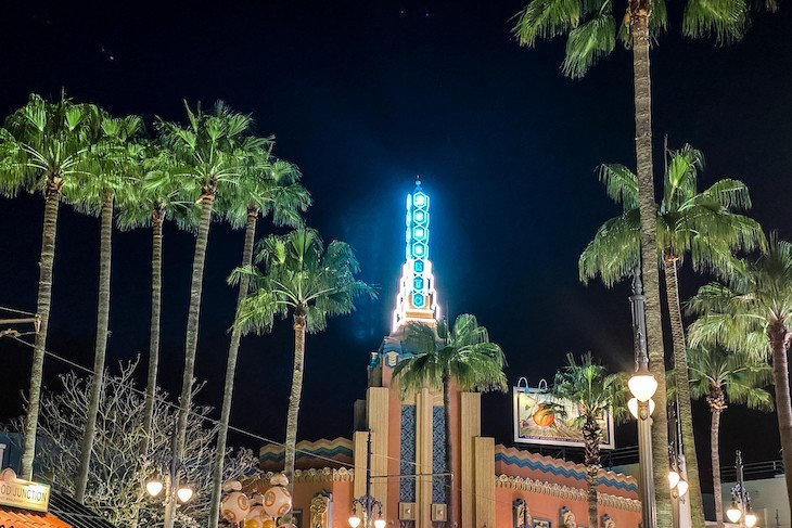 Sunset Boulevard after dark