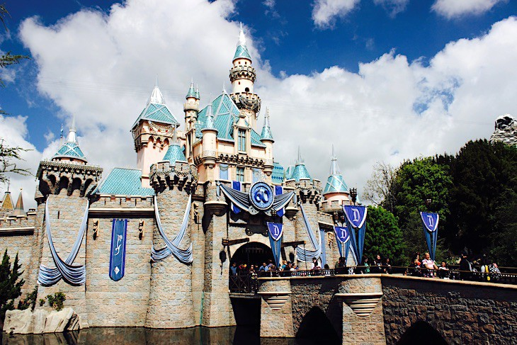 Disneyland's iconic castle