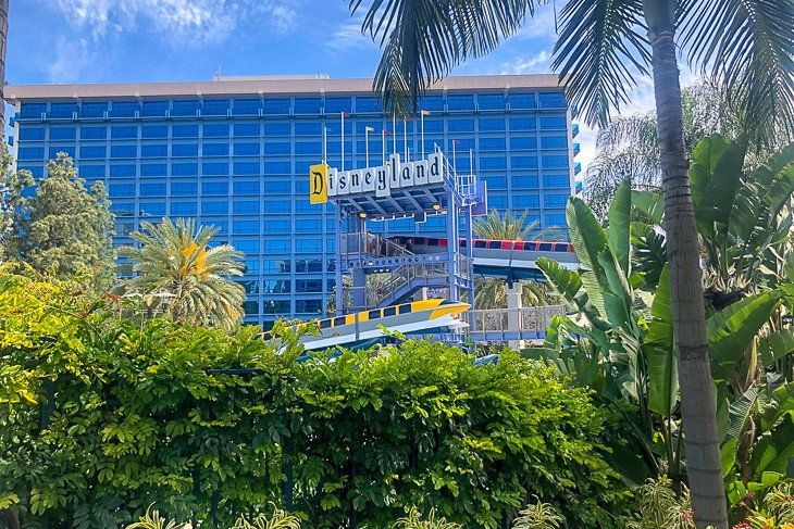 The famous Disneyland Hotel sign