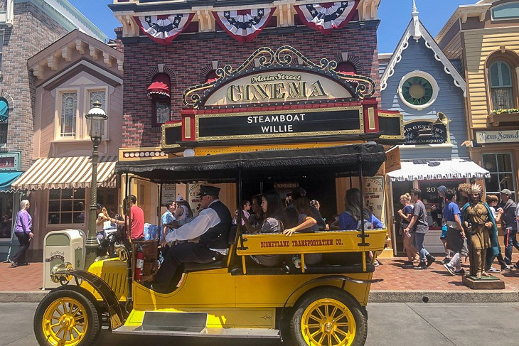 Just one of many fun forms of transportation down Main Street U.S.A.