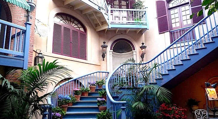 Picturesque New Orleans-style  courtyards