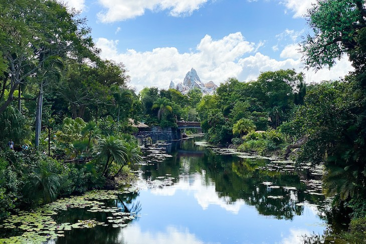 View of Expedition Everest from Africa