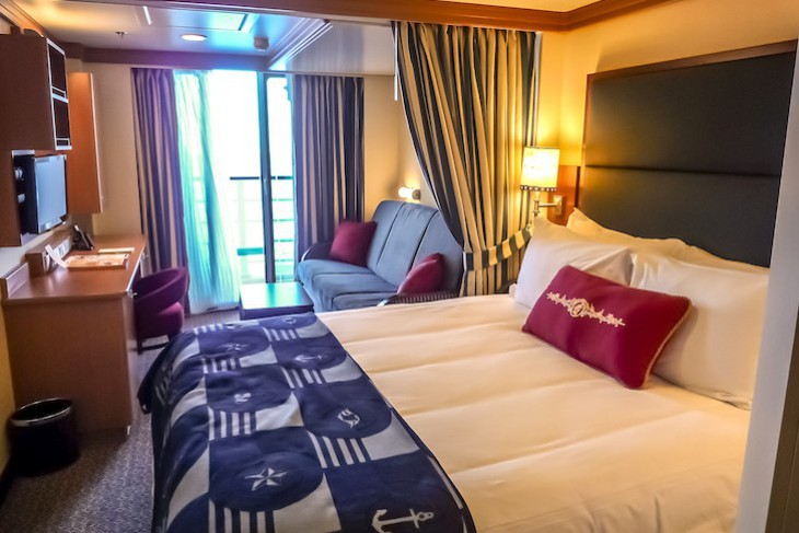 Disney Dream and Fantasy's Deluxe Oceanview Staterooms with Verandah