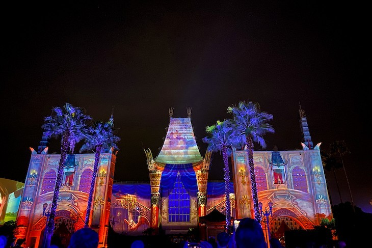 Disney Movie Magic is shown right before Star Wars: A Galactic Spectacular
