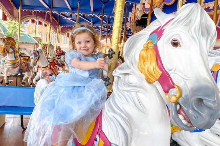 Little princesses love Prince Charming Regal Carrousel