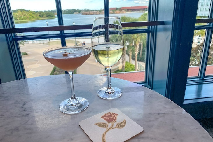 Enchanted Rose drinks with a view