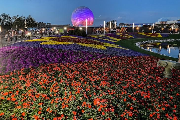 Epcot Flower & Garden Festival after dark