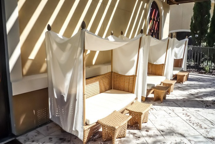 How darling are these cabanas at Four Seasons Kids For All Seasons club?