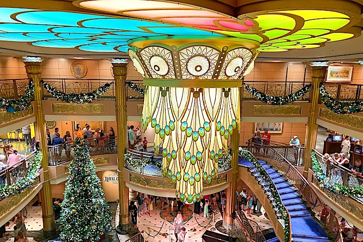 Disney Fantasy Atrium at Christmas