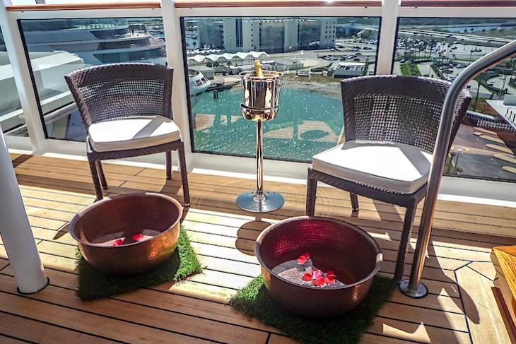 Disney Fantasy Spa Villa balcony