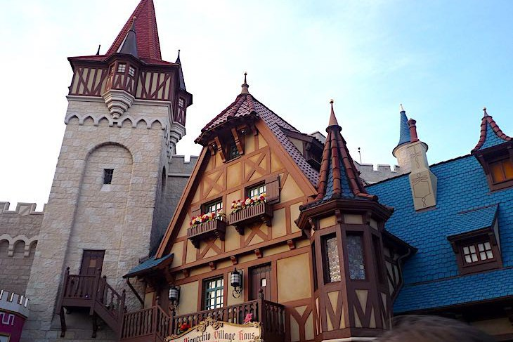The fairytale buildings of Fantasyland