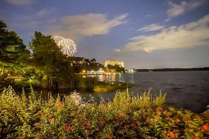 Magic Kingdom fireworks view from the resort