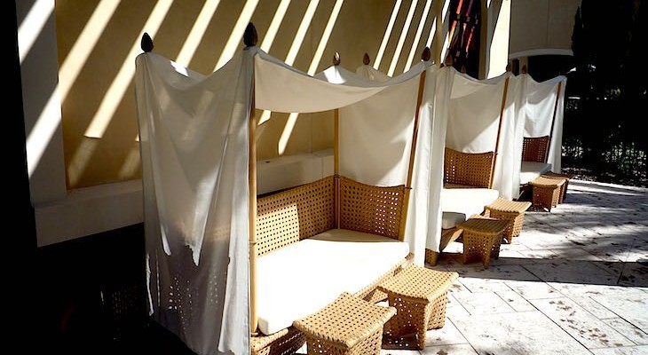 Check out these precious cabanas at the kid's club