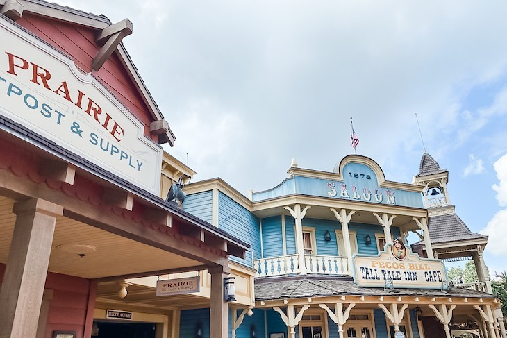 The buildings of Frontierland